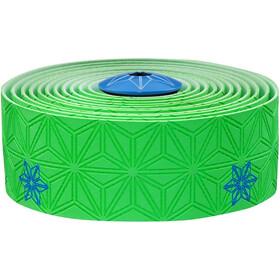 Supacaz Super Sticky Kush Styrbånd, neon green/neon blue print